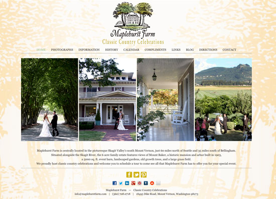 Photo of new Maplehurst Farm website homepage